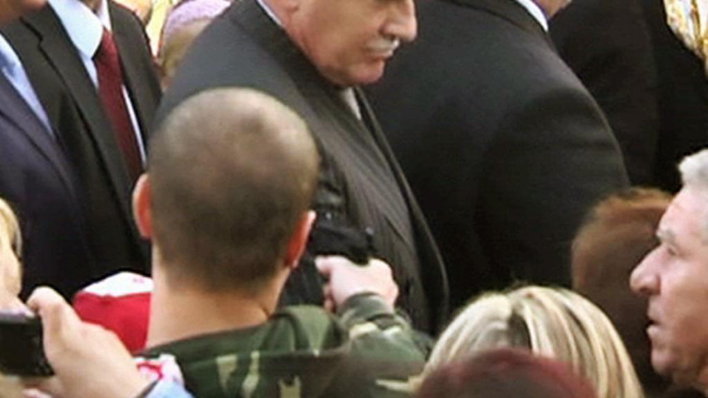 Útok na prezidenta Václava Klause