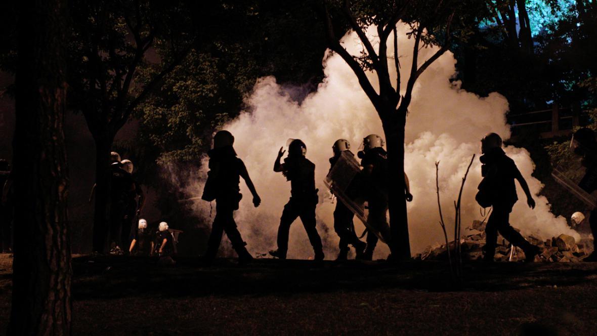 Policejní zásah proti tureckým demonstrantům