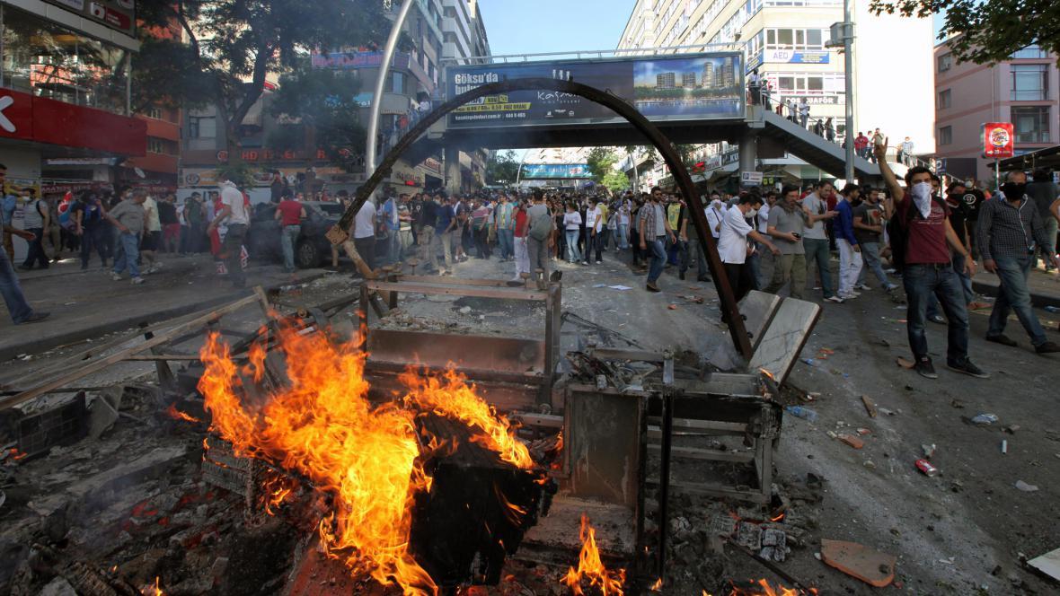 Protesty v Ankaře