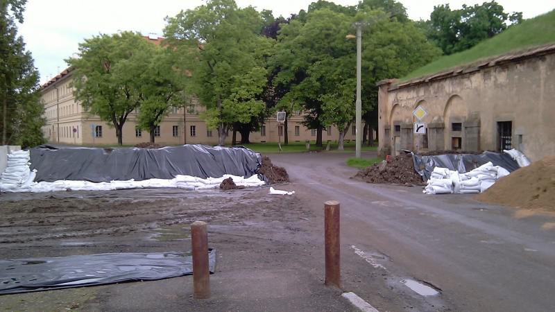 Terezín po včerejší evakukaci