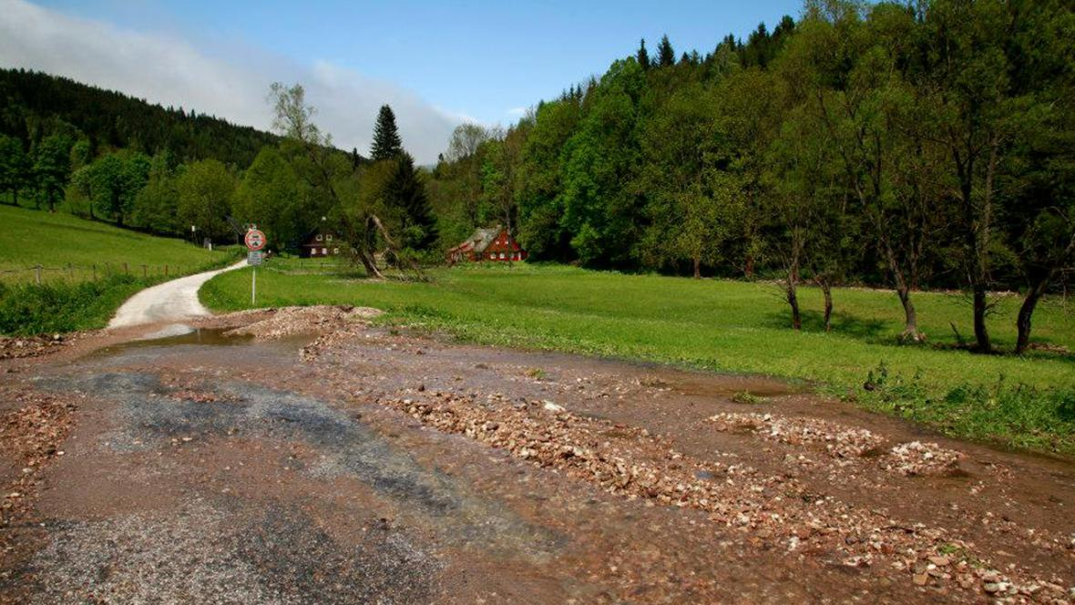 Povodně 2013 - KRNAP - Horní Lysešiny