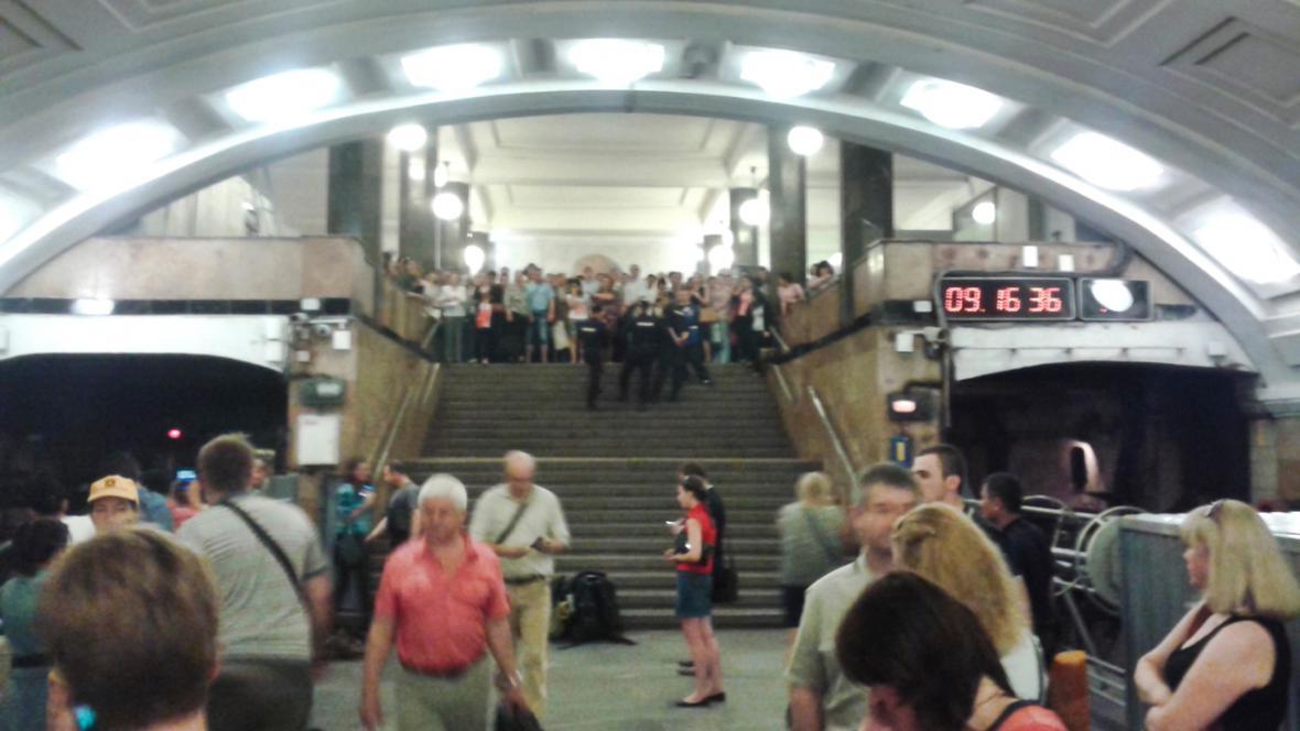 Požár v moskevském metru