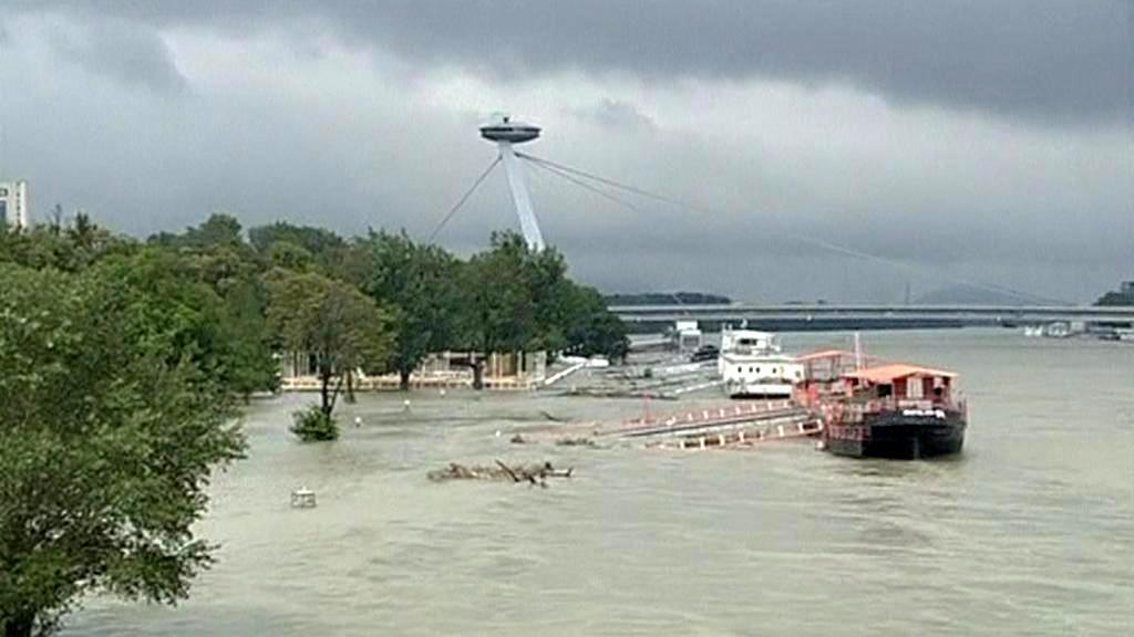 Velká voda v Bratislavě