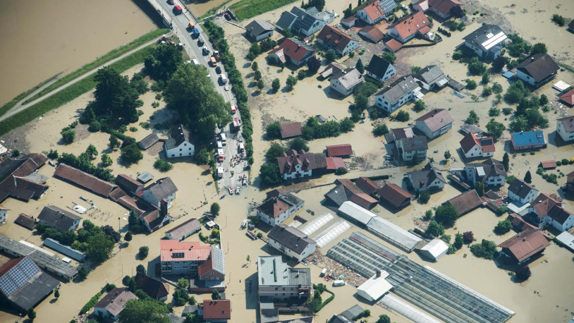 Zaplavený Deggendorf