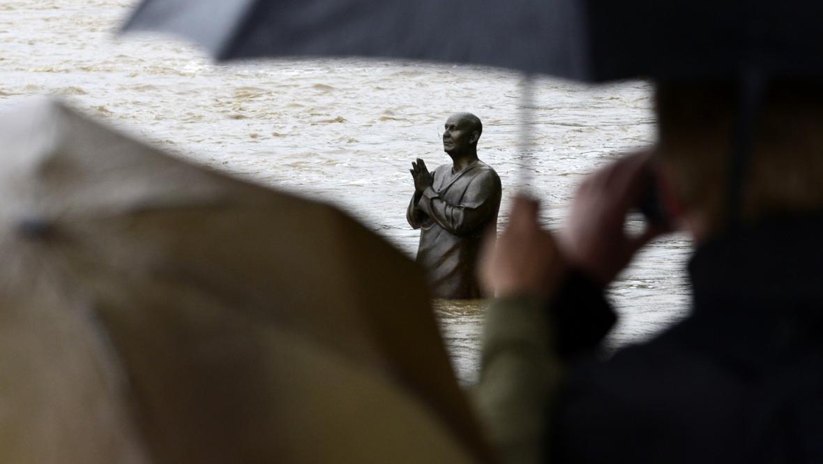 Povodeň v Praze na Kampě