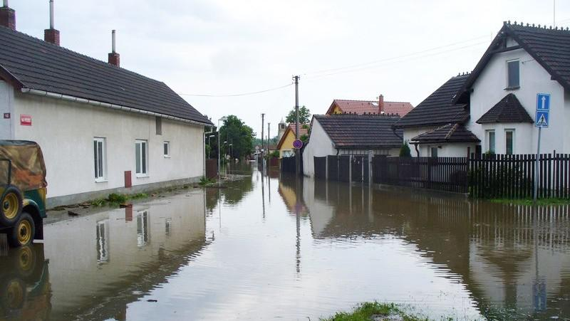 Zaplavená obec Libiš