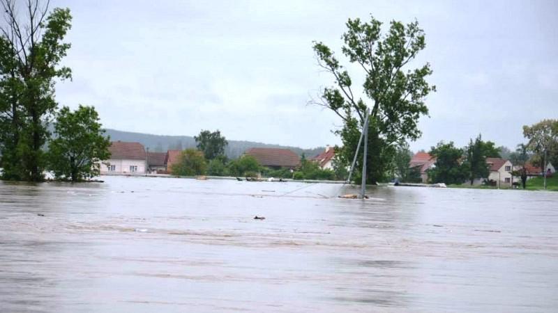 Zaplavený Lužec nad Vltavou