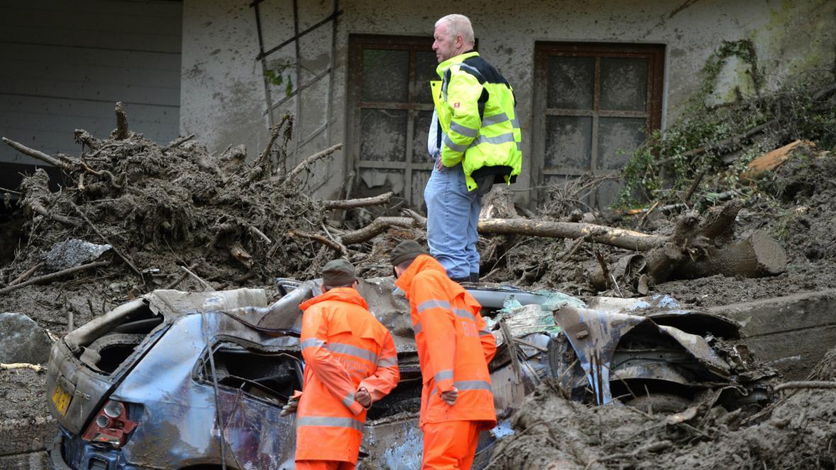 Následky povodní v Salcburku