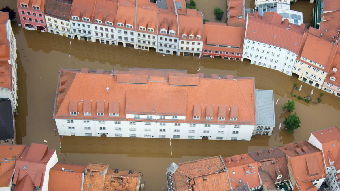 Zatopené centrum Míšně