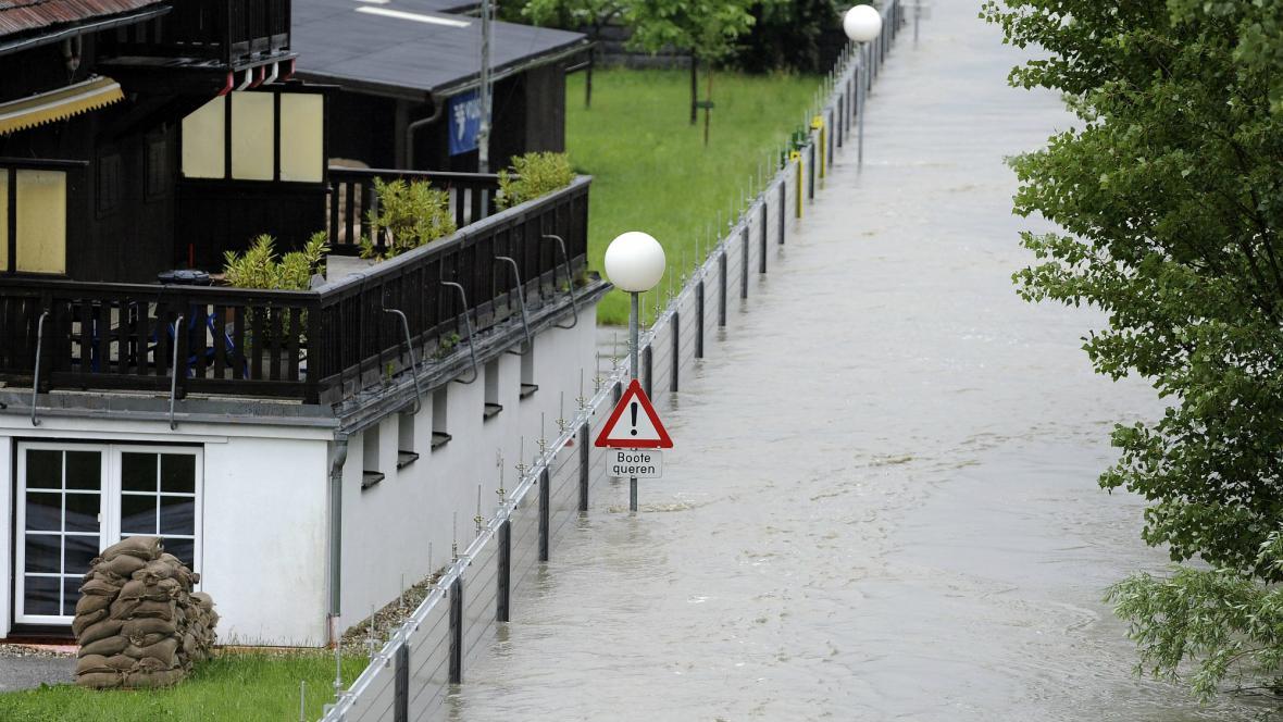 Protipovodňové zábrany v rakouské Kremži