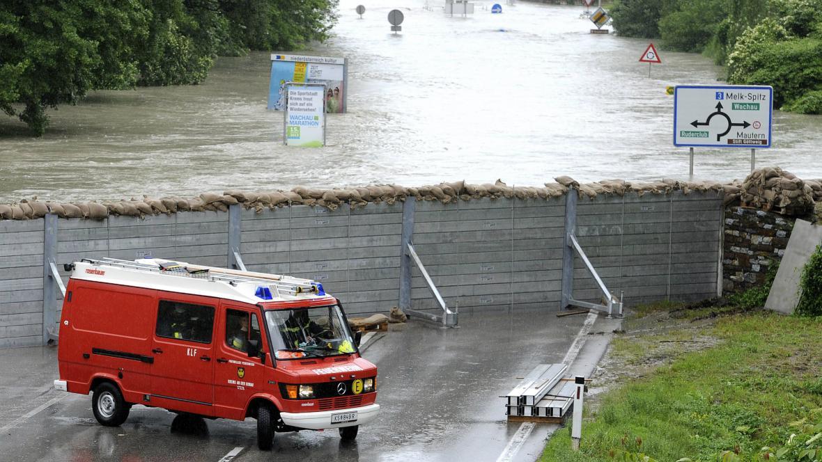 Povodně v rakouské Kremži