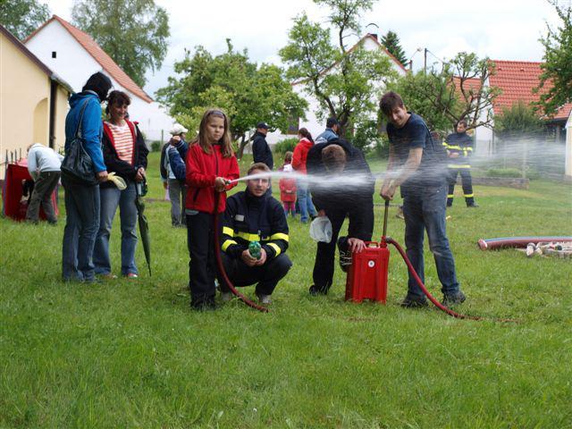 Dětský den u hasičů v Příbrazi