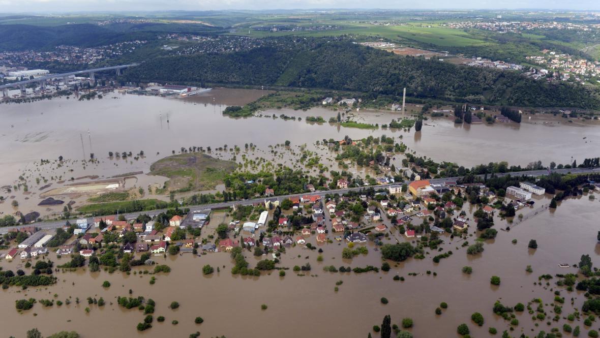Povodeň v pražských Lahovičkách