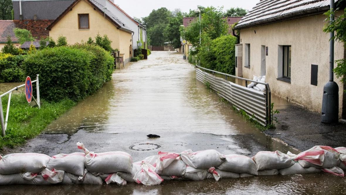 Rozvodněný Botič, Praha-Záběhlice