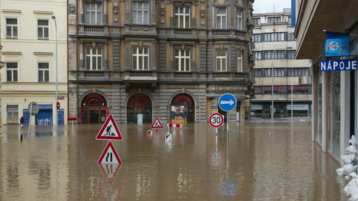 Zaplavené Praha - srpen 2002