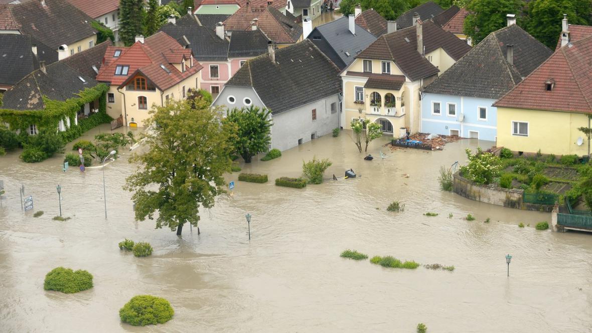 Povodně v Melku