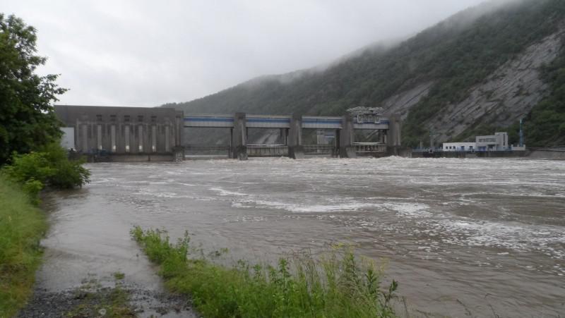 Vrané, pohled na přehradu