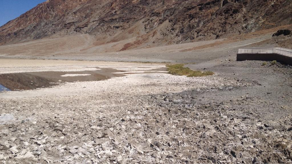 Solné krusty v Údolí smrti