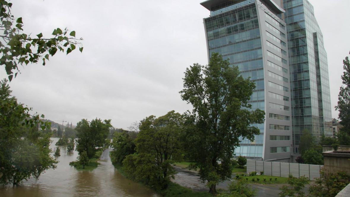Povodně v Praze-Holešovicích