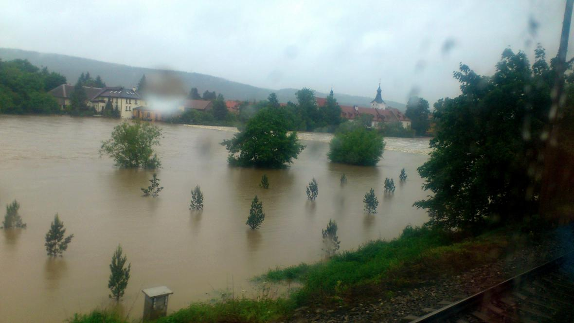 Berounka u Dobřichovic