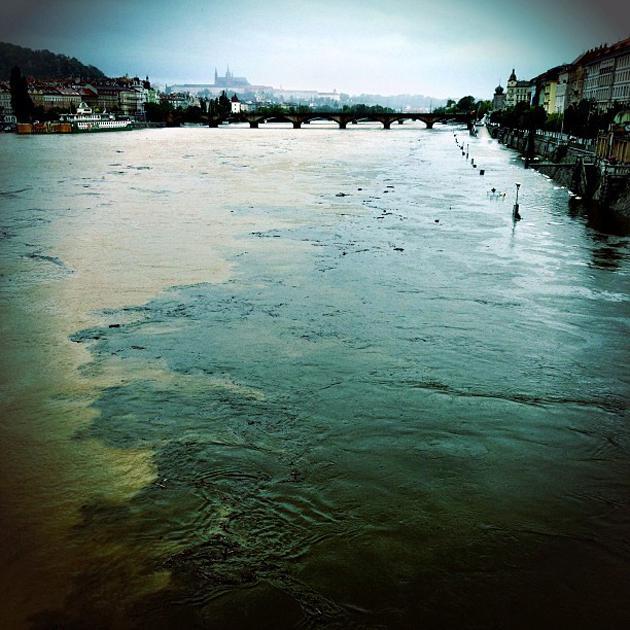 Botič se vlévá do Vltavy