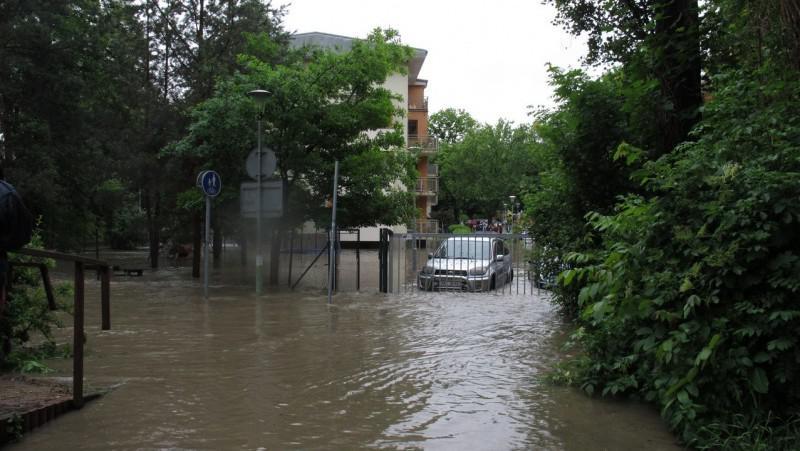 Zatopené budovy u Hamerského rybníka
