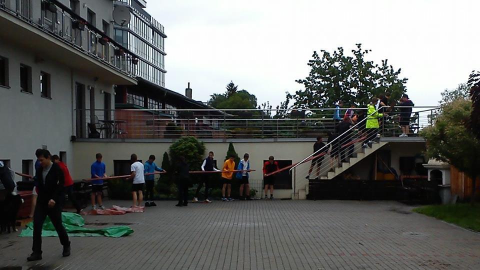 Evakuace lodí z veslařského klubu Smíchov Praha