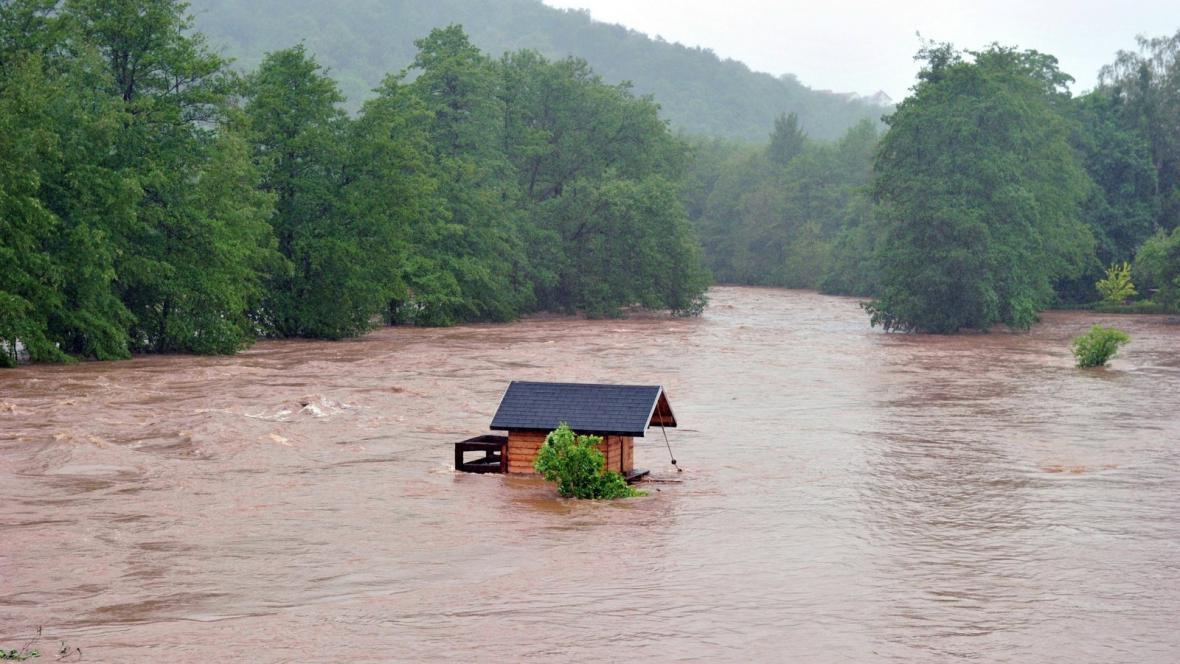 Povodně u Wilkau Haßlau