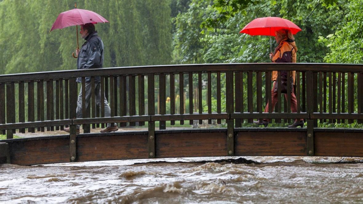Povodně v Dresden-Niedersedlitz