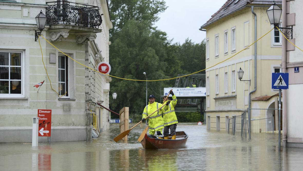 Zaplavený rakouský Melk