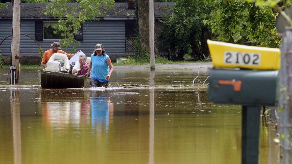 Záplavy v americkém Osage City
