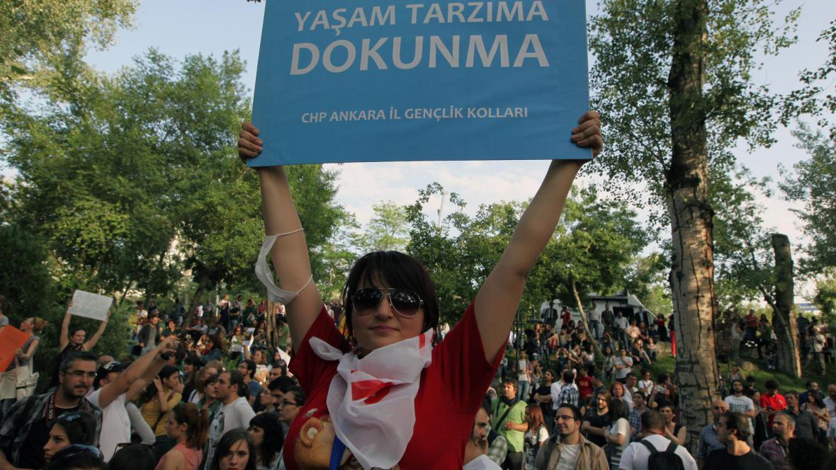 Demonstrace v Ankaře