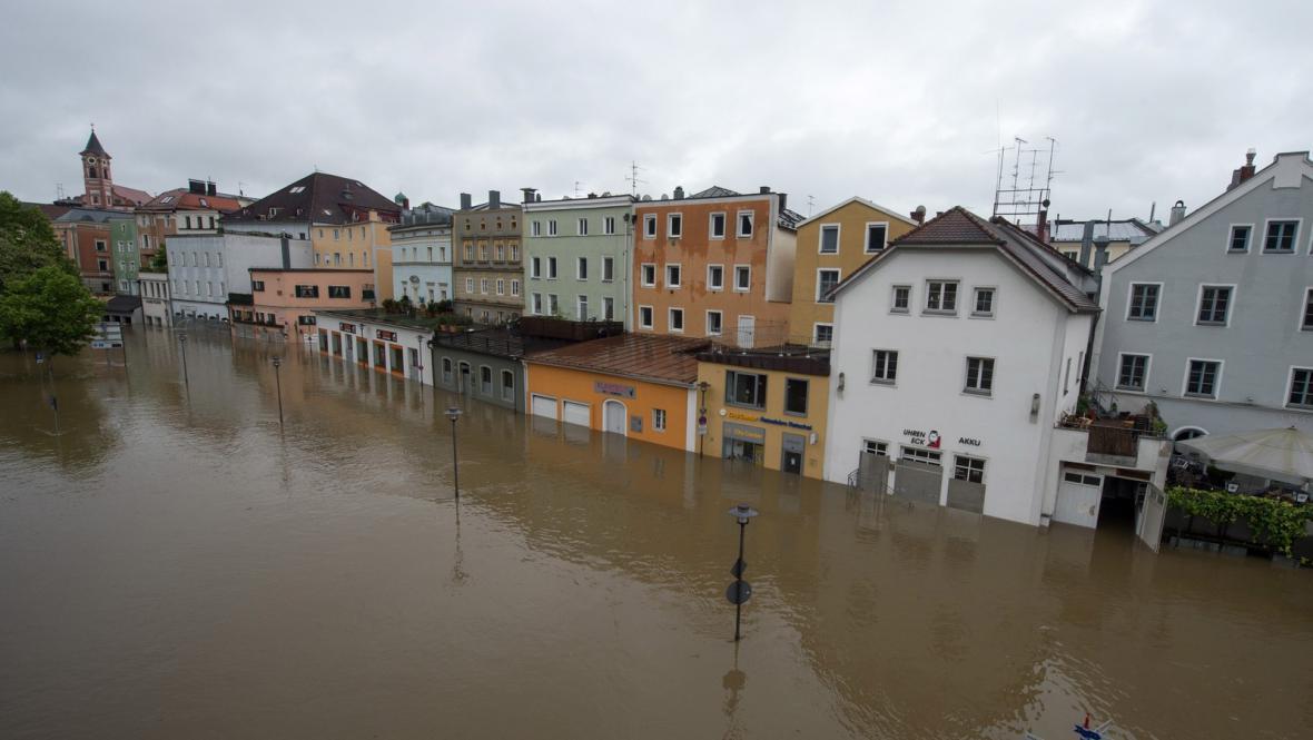 Povodně v německém Pasově