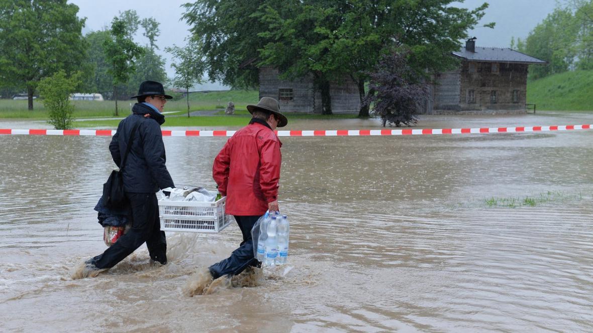 Povodně v rakouském Sv. Martinu