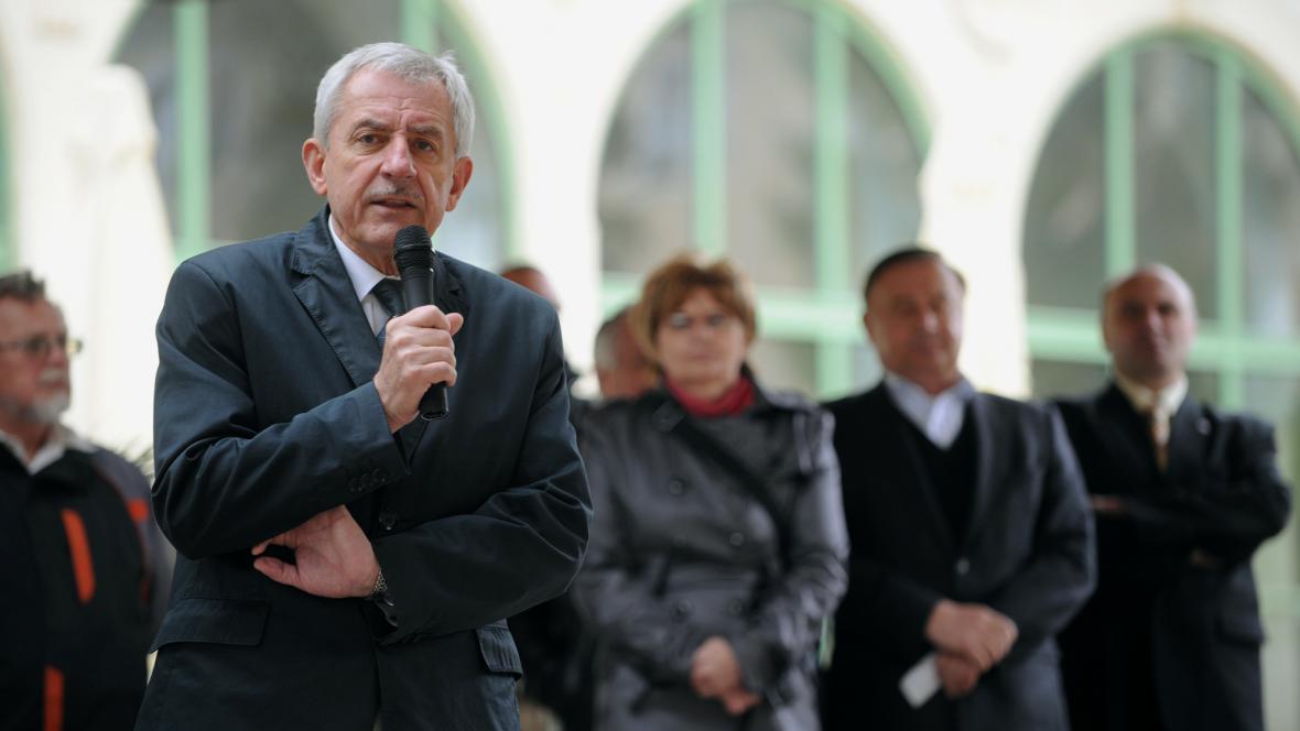 Ministr Heger v Janských Lázních