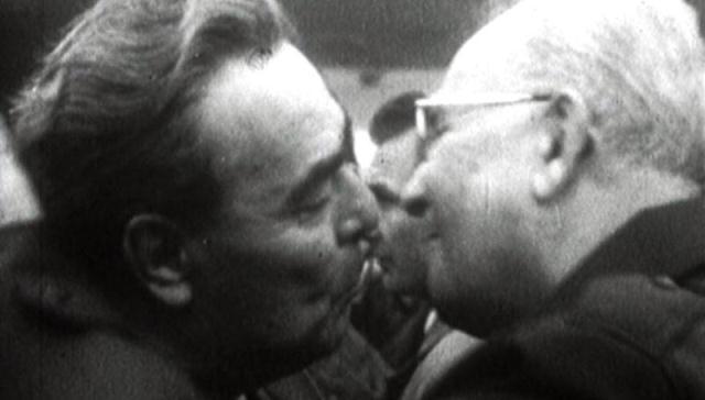 Leonid Iljič Brežněv a Gustáv Husák