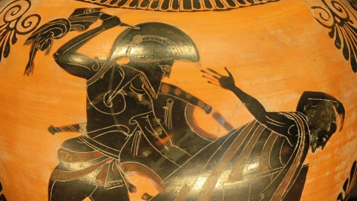Smrt krále Priama, amfora v Louvru