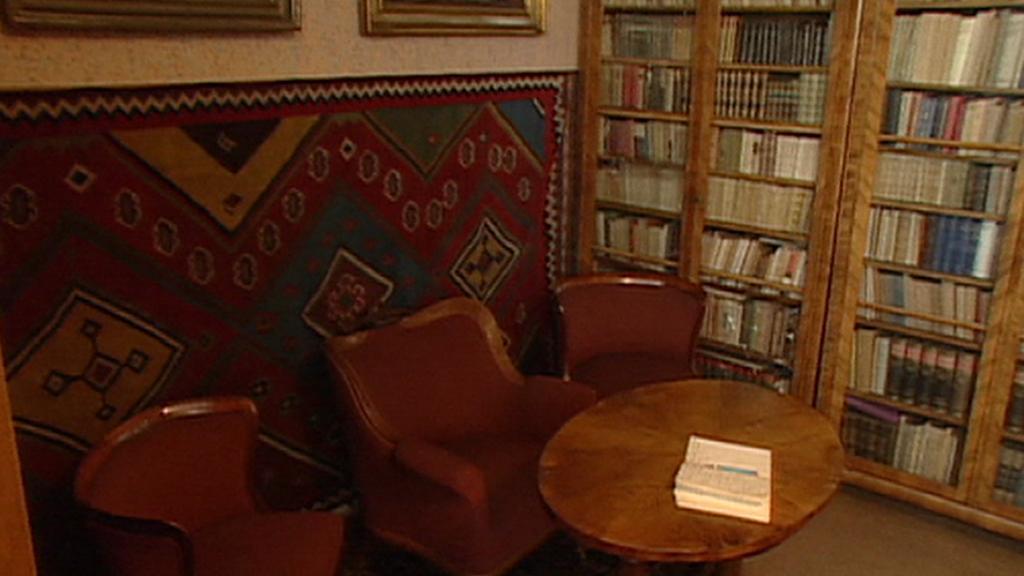 Interiér Čapkovy pracovny