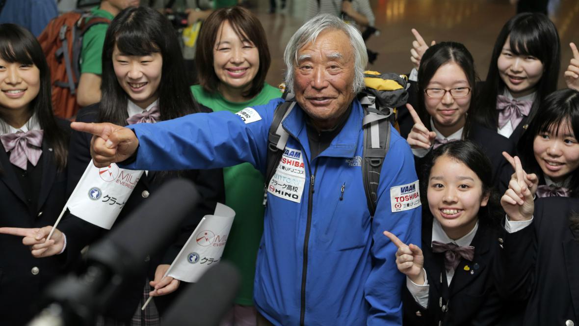 Joičiro Miura je nejstarším pokořitelem Mount Everestu