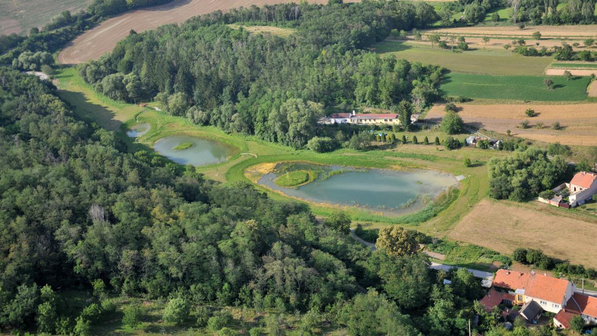 Nově vybudované rybníky v Pršticích