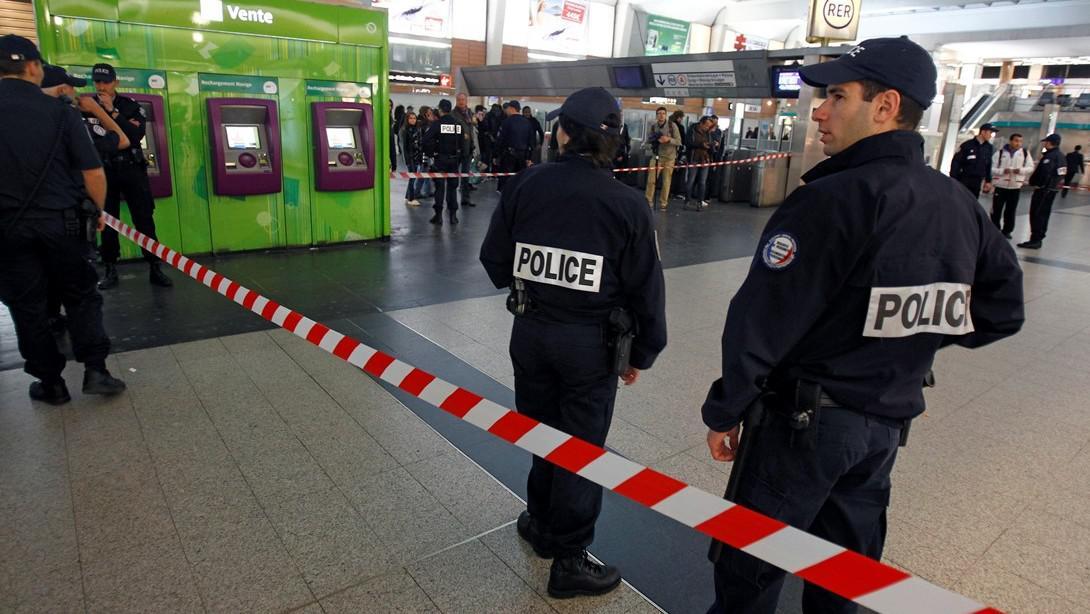 Policie v místě útoku