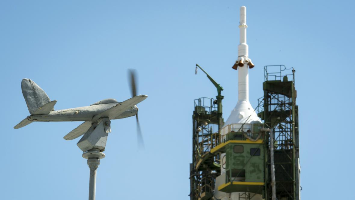 Sojuz čeká na start k ISS