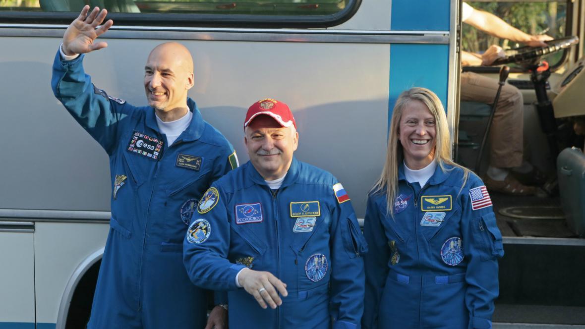 Na ISS poletí tři kosmonauti