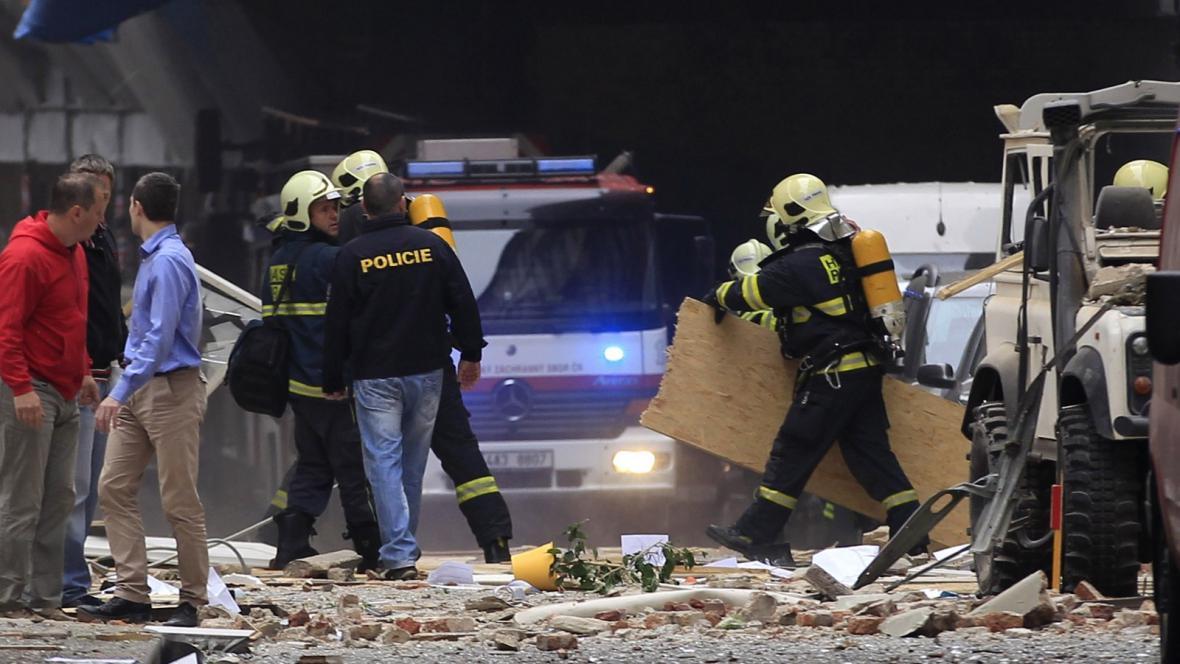 Výbuch v Divadelní ulici