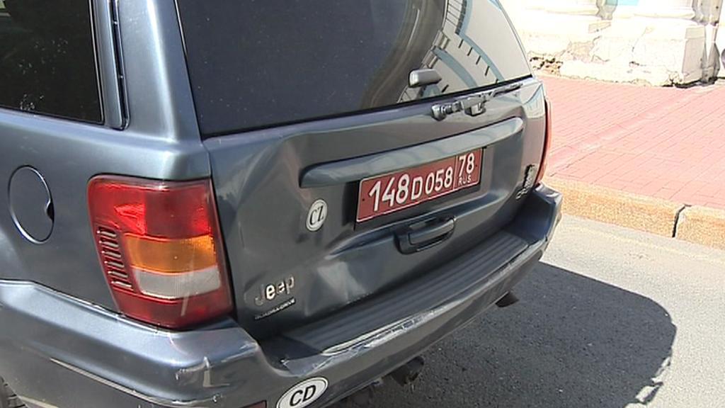 Nehoda aut v koloně v Petrohradu