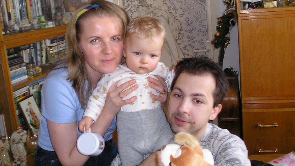 Zdeněk Hromádka s matkou Aničky a s dcerou