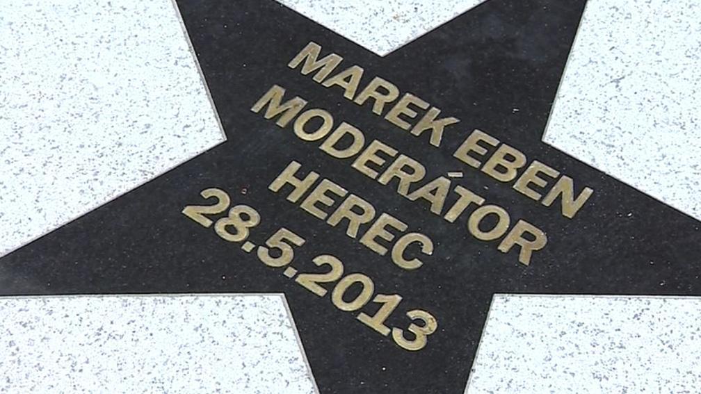 Hvězda Marka Ebena na zlínském chodníku