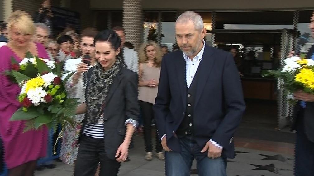 Marek Eben a Sandra Nováková při křtu svých hvězd