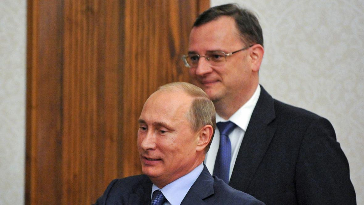 Petr Nečas a Vladimir Putin
