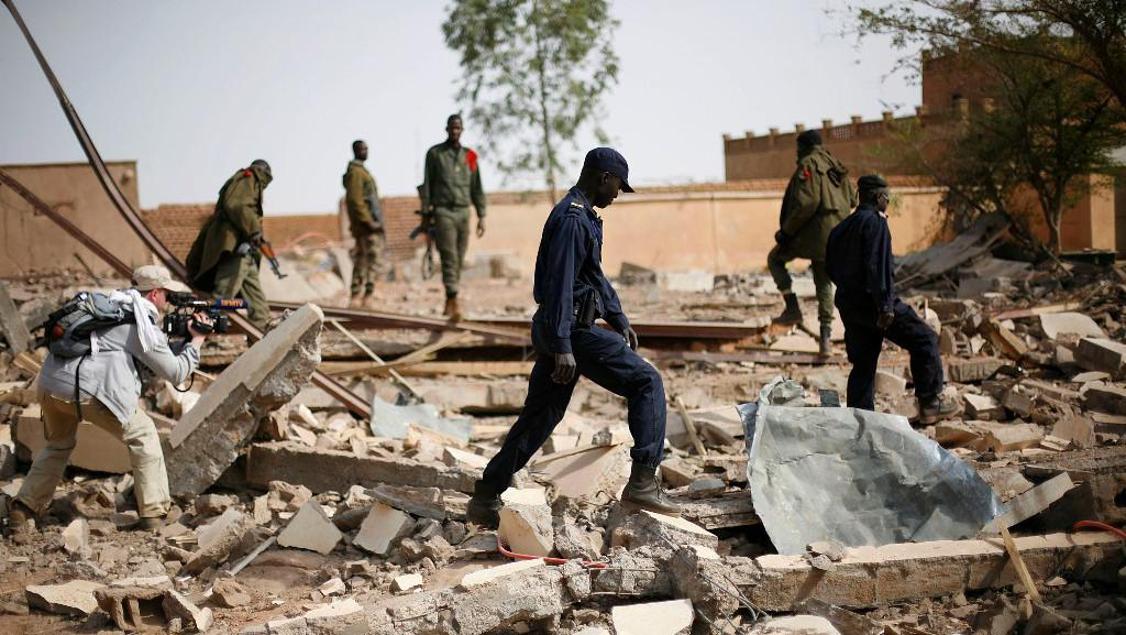 Následky bojů v Mali